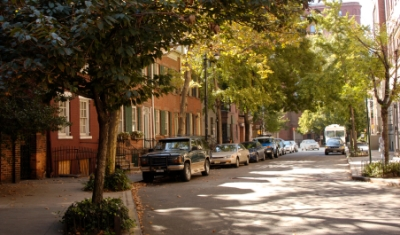 A tree-lined street in Greenwich Village (Photo credit: Meryl Pearlstein)