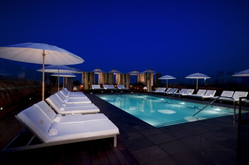 Rooftop pool at Thompson Beverly Hills ~ 10 Best Hotel Pools for Adults