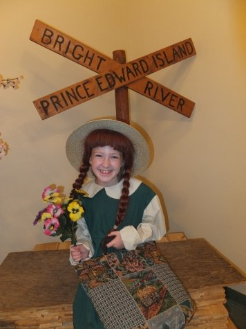 Dressing up as Anne of Green Gables on Prince Edward Island