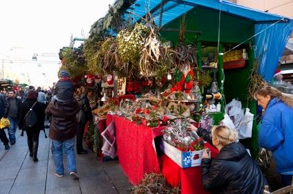 Christmas market, Barcelona