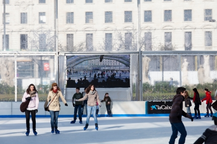Ice skating rink Barcelona