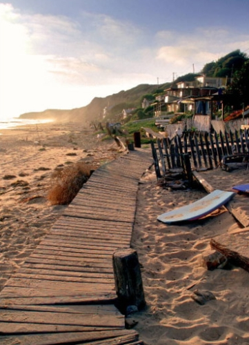 Crystal Cove Beach Cottages in New Port Beach, California