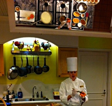 A pumpkin crème brulee cooking demonstration - The Broadmoor