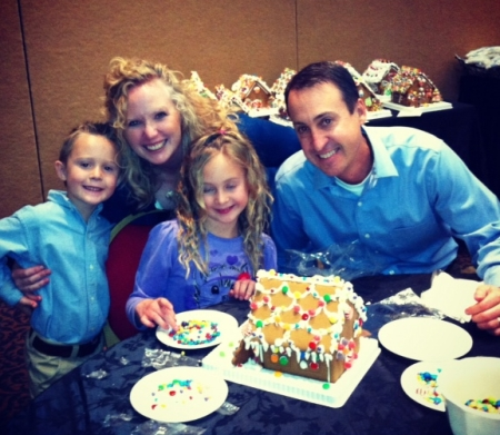 Making a gingerbread house together as a family - The Broadmoor