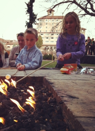 Roasting marshmallows before the White Lights Ceremony - The Broadmoor