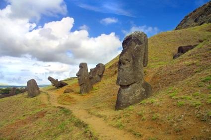 Ruins of Rapa Nui on Easter Island
