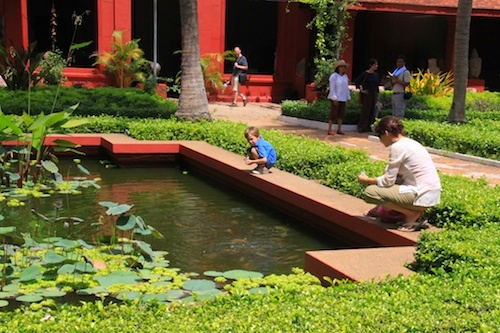 Fish Pond at the National Museum in Phnom Penh, Cambodia