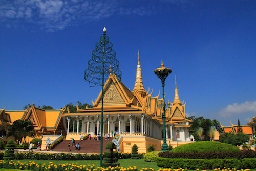 Phnom Penh Royal Palace in Cambodia