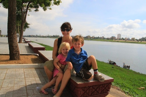 Riverfront in Phnom Penh