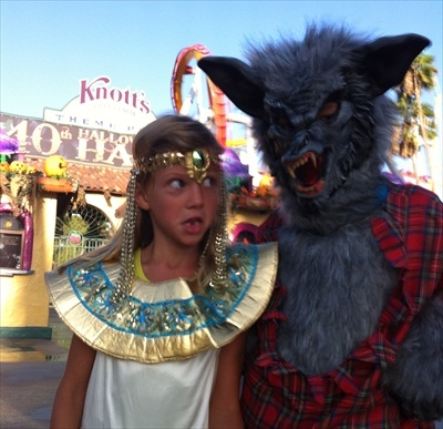 Knott's Camp Spooky Children in Halloween Costumes