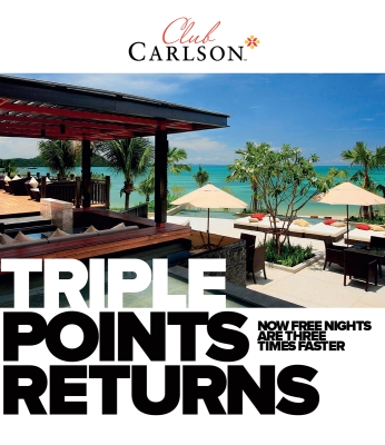 50,000 Hotel Points Giveaway and Triple Points Opportunity from Club Carlson
