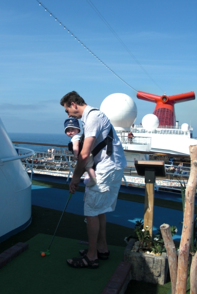 Miniature golf on a Carnival Cruise ~ Carnival Cruise Line with Kids