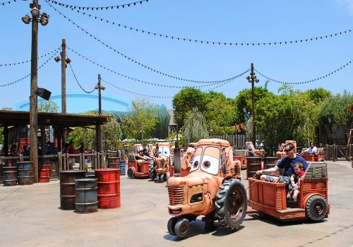 Tow Mater's tractor ride