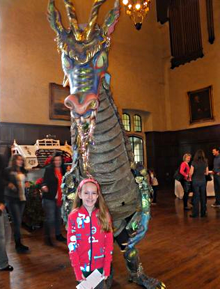 Casa Loma dragon from Mozart's opera