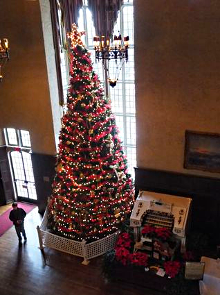 Casa Loma Christmas tree