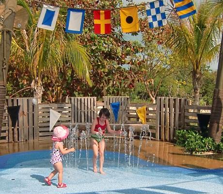 Castaway Cay Spring A Leak splash fountains