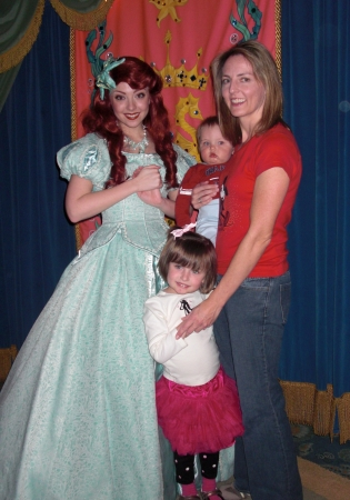 family with ariel at ariel's grotto