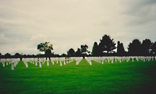 Omaha Beach cemetery in Normandy, France