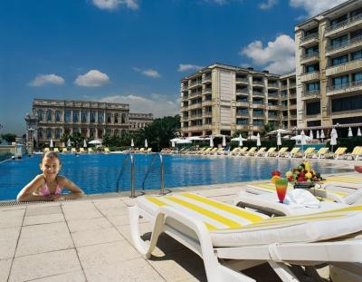 The infinity pool at Ciragan Palace Kempinski Istanbul along the Bosphorous Straight