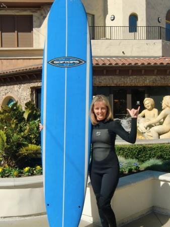 Surfing in Huntington Beach