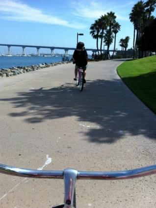 View from my rental bike - Coronado Island