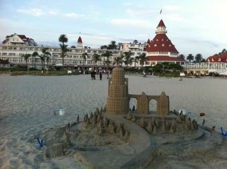 Hotel del Coronado sand castle - Coronado Island