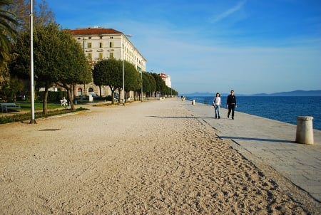 Zadar Croatia Boardwalk