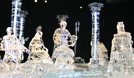 Dreamworks Shrek ice nativity scene