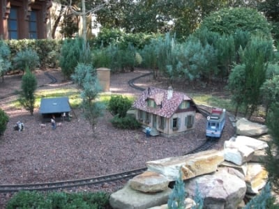 The miniature train in the Germany Pavilion - Epcot