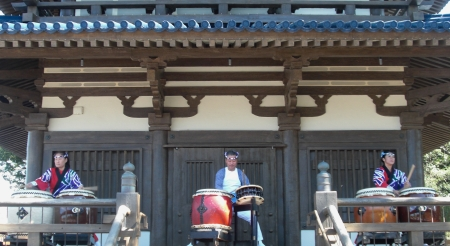 The Taiko Drummers in the Japan Pavilion - Epcot Japan Pavillion