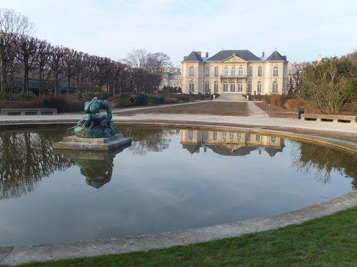 Musee Rodin garden in winter