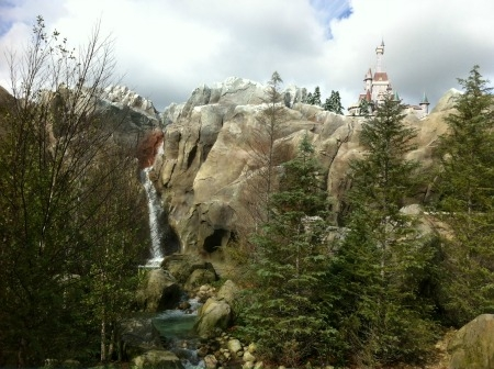 Beauty and the Beast at the Beast's Castle at New Fantasyland