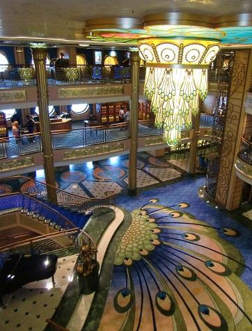 Disney Fantasy peacock lobby