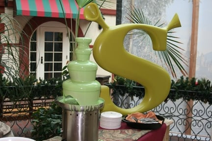 Shrek chocolate fountain at Gaylord Palms