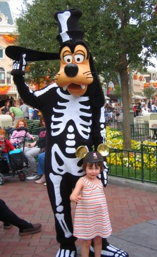Goofy dressed up for Halloween at Disneyland
