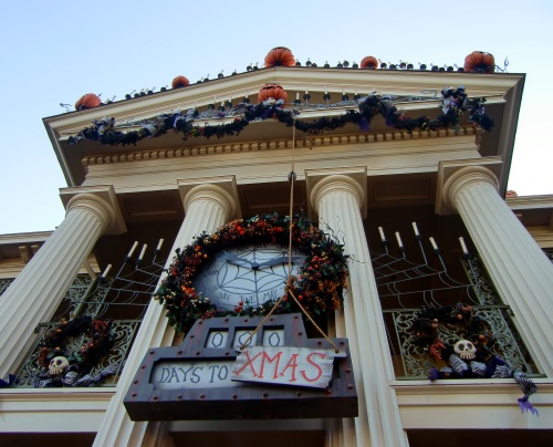 Disneyland's Haunted Mansion all dressed up for the holidays - Halloween at Disneyland