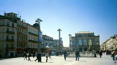 Montpellier's main plaza, La Place de la Comedie