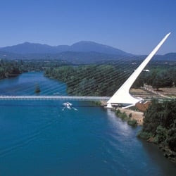 Sundial Bridge in Turtle Bay Exploration Park in Redding, California ~ I-5 Pit Stops for Kids