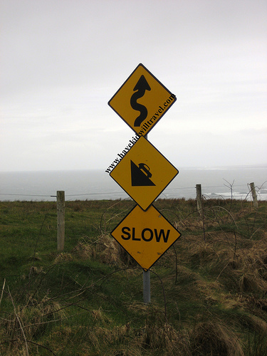 This sign, near the Cliffs of Moher is wonderful in its warning (Photo credit: Jody Halsted)