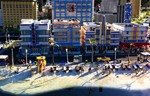 Miami Beach in Miniland USA at LEGOLAND Florida