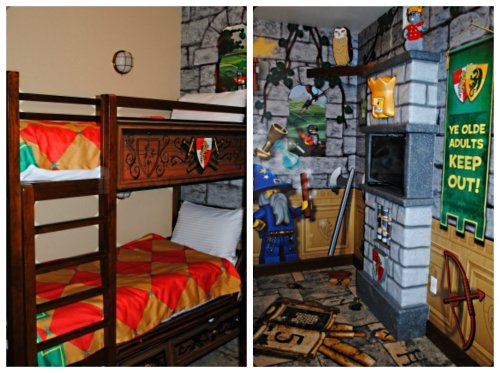 LEGOLAND Hotel Premium Kingdom Room   The Kidsu0027 Area