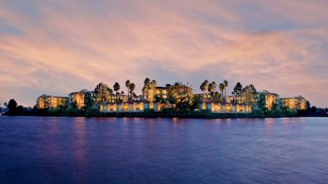 A view of Loews Coronado Bay Resort from the water (Photo by Loews)