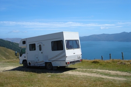 Motorhome in New Zealand tracking Lord of the Rings