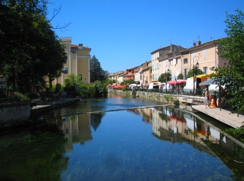 Sorgue River in Isle-sur-la-Sorgue, France