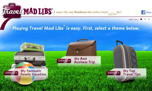 Travel Mad Libs - Residence Inn