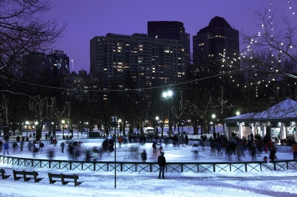 Ice-skating on Frog Pond, Boston