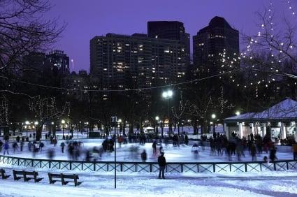 Ice-skating on Frog Pond, Boston
