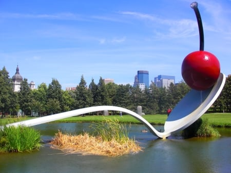 minneapolis sculpture garden spoon and cherry