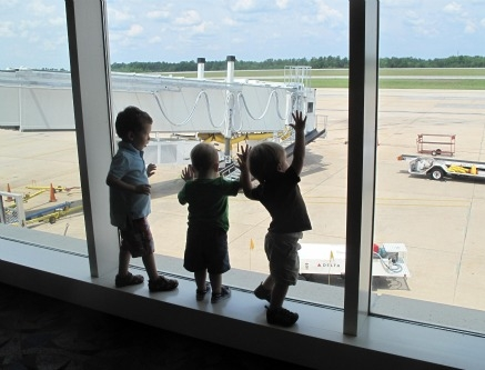 Be sure to let your kids blow off some steam before boarding the plane or getting in the car - traveling with children
