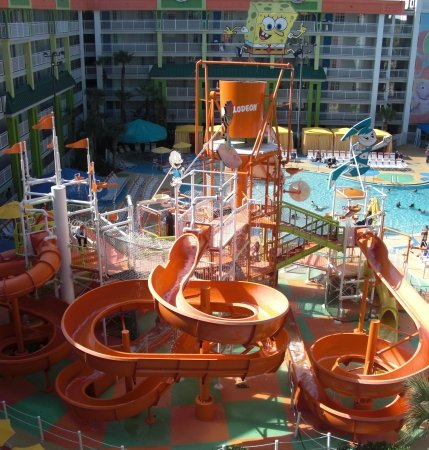 On Our Last Day At The Nick Hotel We Were Determined To Check Out S Vast Pool And Numerous Waterslides Despite A Cloudy Sprinkling Sky